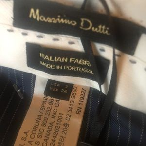 Massimo Dutti Navy business casual / Suit Pants